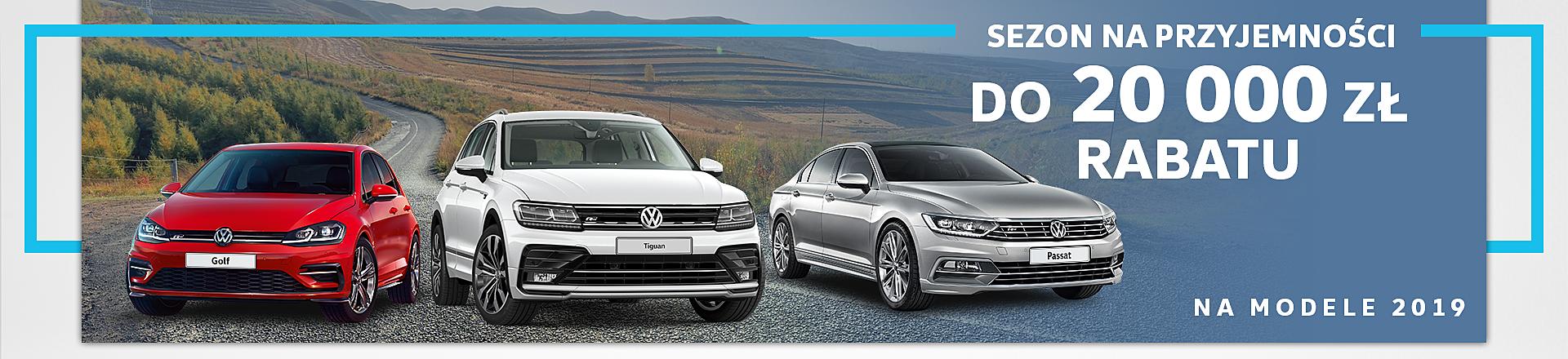 Do 20 tysięcy złotych rabatu na modele Volkswagena z rocznika 2019 2