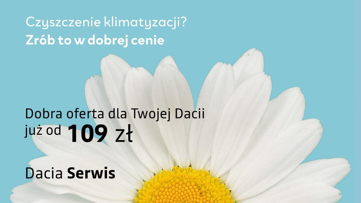 Czyszczenie klimatyzacji od 109 zł w serwisie Dacii 7