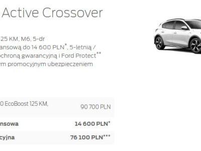 Ford Focus Active Crossover w atrakcyjnej ofercie promocyjnej 4