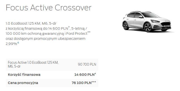 Ford Focus Active Crossover w atrakcyjnej ofercie promocyjnej 1