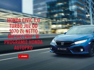 Honda Civic 1.0 Turbo w atrakcyjnym miesięcznym finansowaniu 4