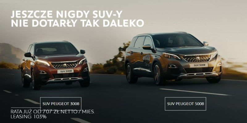 Świetne oferty na SUV-y w Peugeot 1