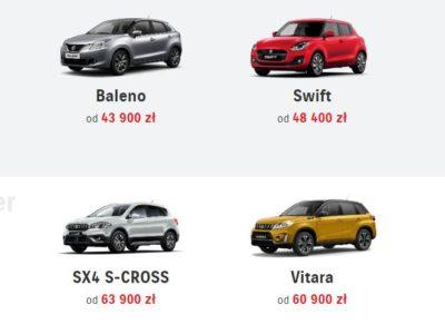 Promocyjne ceny na wybrane samochody Suzuki 6