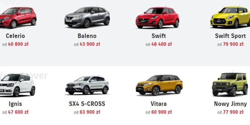 Promocyjne ceny na wybrane samochody Suzuki 1