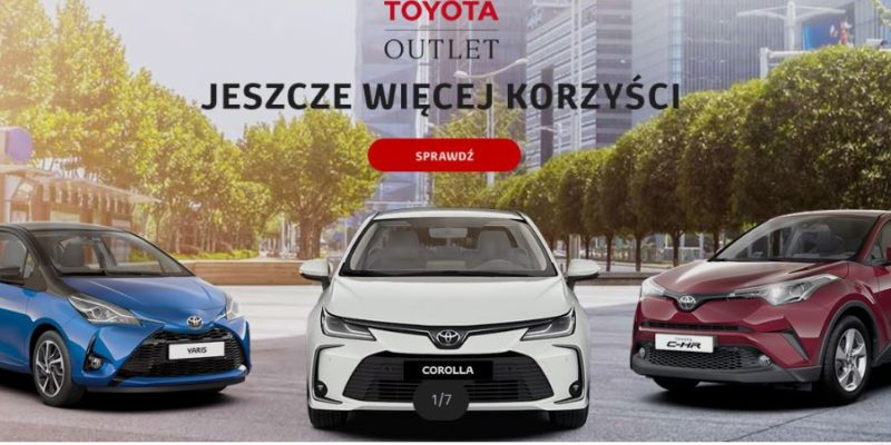 Wyjątkowy outlet w Toyota 1