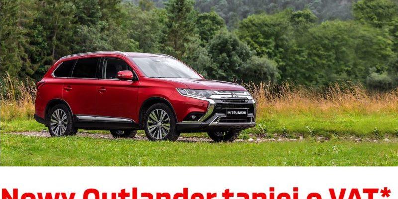 Outlander taniej o VAT w Mitsubishi 1