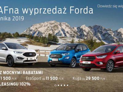 Wyprzedaż rocznika 2019 w Ford 3