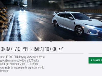 Rabat na Hondę Civic Type R 10