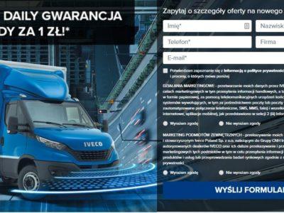 Nowy Iveco Daily z gwarancją i przeglądami za 1 zł 3