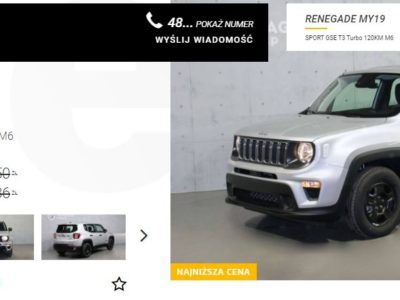 Jeep Renegade od 69 900 zł brutto 4