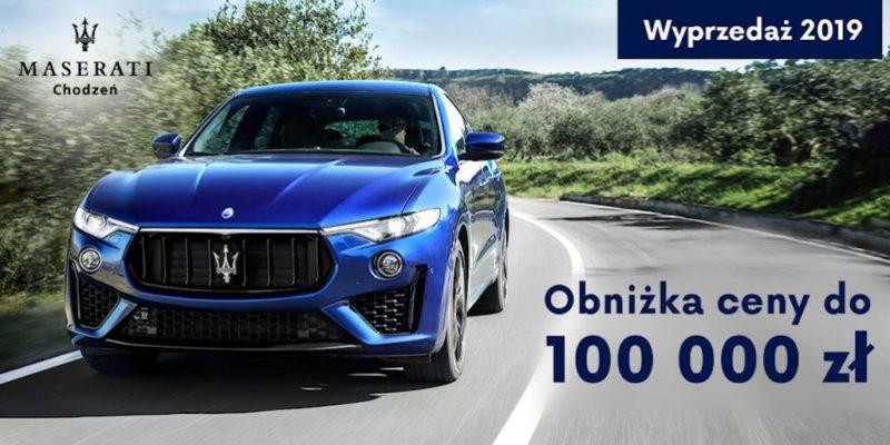 Do 100 000 zł taniej na wyprzedażach w Maserati 1