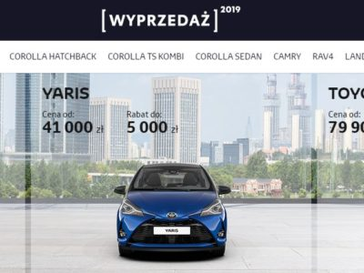 Wyprzedaż rocznika 2019 w Toyota 1