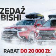 Rabaty do 20 tysięcy złotych na wyprzedażowe modele Mitsubishi 25