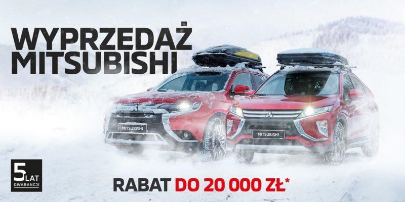 Rabaty do 20 tysięcy złotych na wyprzedażowe modele Mitsubishi 1