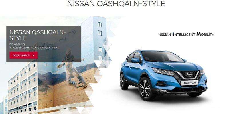 Rozszerzona gwarancja na Nissan Qashqai N-Style 1