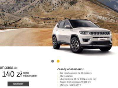 Jeep Abonament z wieloma korzyściami 3