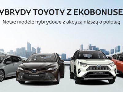 Ekobonus na hybrydowe modele Toyota 1
