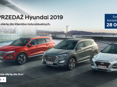 Wyprzedaż rocznika 2019 w Hyundai dla klientów indywidualnych 2