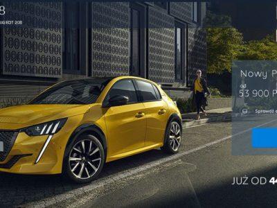 Nowy Peugeot 208 od 449 zł brutto miesięcznie 2