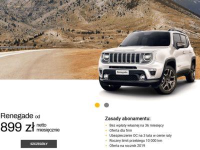 Jeep Renegade od 899 zł netto miesięcznie 2