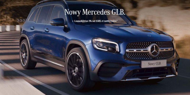Nowy Mercedes GLB w ofercie Lease&Drive 1% 1