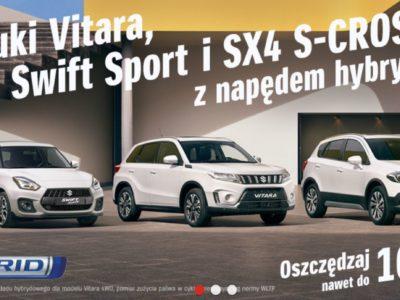 Promocje na samochody z rocznika 2020 w Suzuki 3