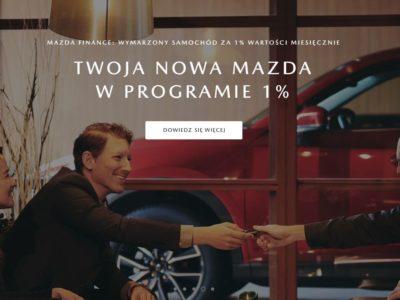 Mazda Finanse dla klientów indywidualnych. Co zyskujesz? 1