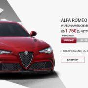 Alfa Romeo w atrakcyjnym abonamencie 8