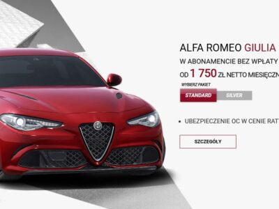 Alfa Romeo w atrakcyjnym abonamencie 2