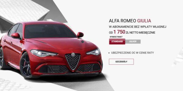 Alfa Romeo w atrakcyjnym abonamencie 5