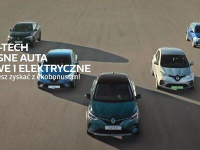 Sprawdź, ile możesz zyskać kupując elektryczny lub hybrydowy samochód od Renault 1